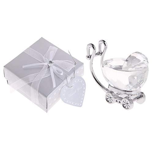 LAOLEE Kristall-Babywagen Taufe Gastgeschenk Kindergeburtstag Babyparty Gastgeschenke Kristall Babywagen Ornamente