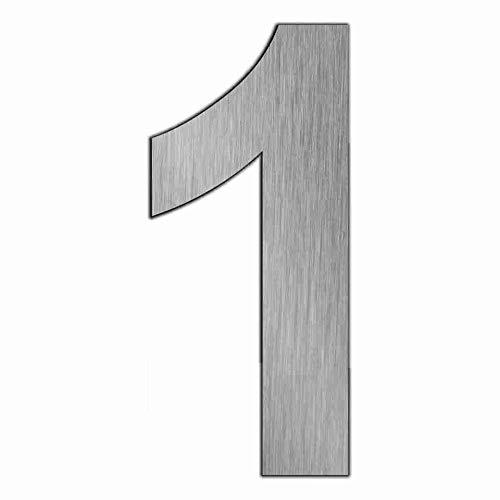 Hausnummer Edelstahl Zahl 1 Eins Höhe 170 mm Edelstahl Hausnummer incl. Silikon