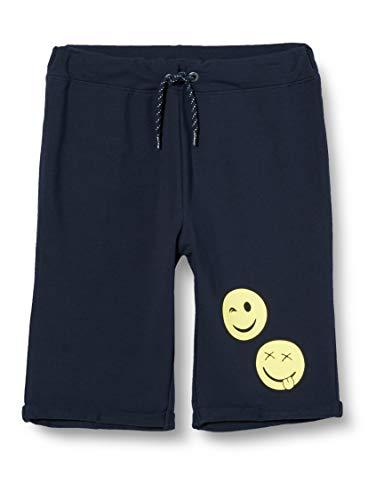 NAME IT Jungen NKMHAPPY FRANK Sweat Long SMI Shorts, Dark Sapphire, 122