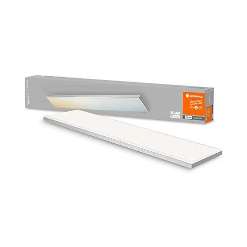 LEDVANCE Smarte LED Deckenleuchte, Panel für Innen mit WiFi Technologie, Lichtfarbe änderbar (3000K-6500K), 800mm x 100mm, Kompatibel mit Google und Alexa Voice Control, SMART+ WIFI PLANON FRAMELESS