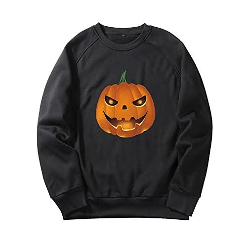 YingeFun Mens Graphics Hoodies Halloween Fleece Pullover Novelty Sport Sweatshirt Teen Plain Simple Tops Fall & Winter Black