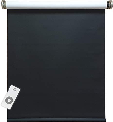 Persiana enrollable eléctrica oscurecida, 100% opaca, incluye motor y transmisor, 160 x...