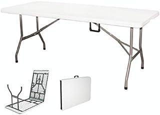 Galileo Casa 2192035 Table Pliante Valise Blanche 181 x 74 x 74 cm
