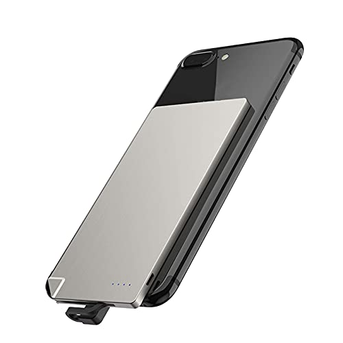 Wdszb Power Bank Cargador de teléfono portátil ultradelgado Cable Incorporado Batería de Respaldo 2 Salidas con 4 Indicadores LED para teléfonos Inteligentes iPhone, tabletas y Dispositivos electr