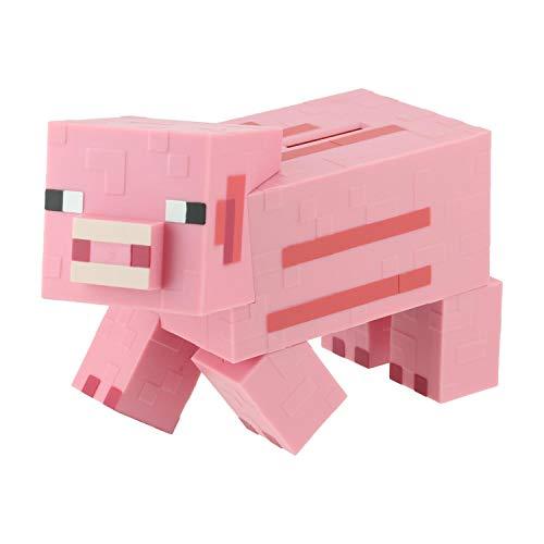 Paladone PP6590MCF Minecraft Pig - Hucha (19 cm, con Licencia Oficial), Color Rosa