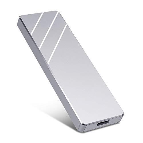 Externe Festplatte 1tb,USB 3.1 für PC, Mac, Desktop, Laptop, MacBook, Chromebook (1tb, Silber)