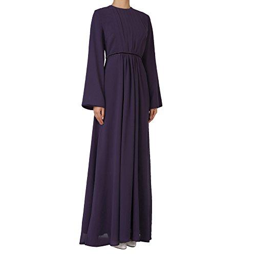 INGSIST Damen Islamischen Muslim Abaya Langarm Maxi Kleid Abend Ball Kleider Hochzeitskleid