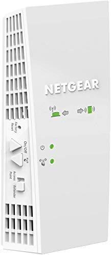 Netgear EX6250 Wireless WiFi Repeater, Cover for 3-4 Rooms and 10 Devices,...