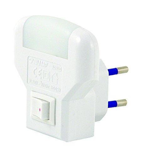 VELAMP Notturna 2 LED, con Interruttore ON/off. Luce soffusa, Bianco, 14 x 10 x 6 cm