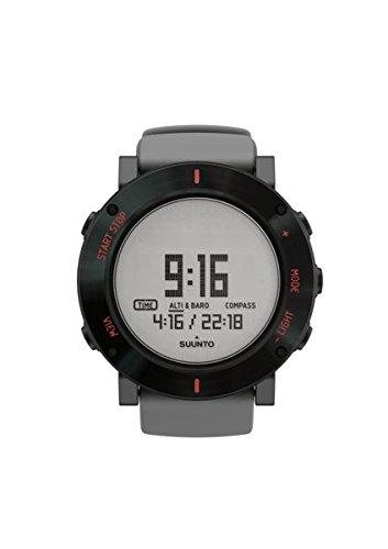 Suunto Unisex Core Outdoor-Uhr für alle Höhenlagen, Höhenmesser, Barometer, Wetterfunktionen, Stabiles Verbundgehäuse mit Edelstahl-Lünette, grau, Wasserfest (30 m), SS020691000