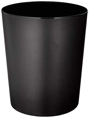 Läufer 26516 Papierkorb Allrounder 13 Liter, schwarz, runder Mülleimer, stabiler Kunststoff, Inhalt 13L