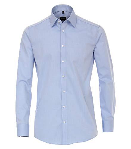 Venti Herren Businesshemd Uni Modern Fit Hellblau 42