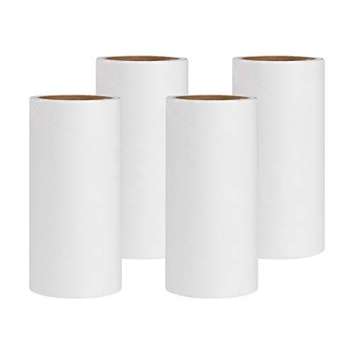 ISIYINER Ersatzrolle für Fusselrolle, Lint Roller Refills für Kleidung Sofa Bett und Teppich 4 Stück 240 Blätter