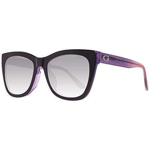 Guess GU7552-F 5505B zonnebril GU7552-F 05B vlinder zonnebril 55, zwart