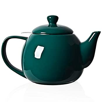 SWEEJAR Porcelain Teapot with Infuser and Lid,Teaware with Filter 30 OZ for Tea/Coffee/Milk/Women/Office/Home/Gift  Jade