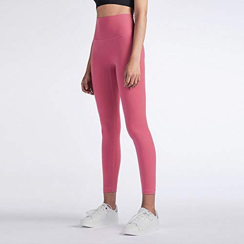 Sport Yoga Activewear Workout,Fitness Hoge taille Buikcontrole Naadloze legging,Energy Gymwear Workout Yoga Pant-Peach_pollen_XL,Ultrazachte en comfortabele yoga-legging