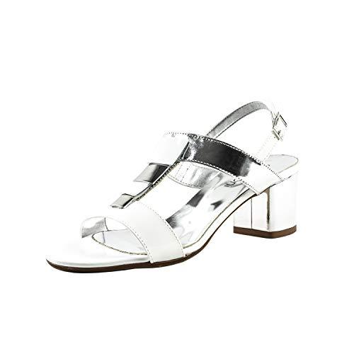 Emozioni , Damen Sandalen Weiß Bianco, Weiß - Bianco - Größe: 39 EU