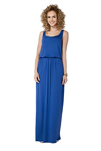 AE zomerjurk maxi jurk elastische band maat 36 38 40 42 44 46, B21