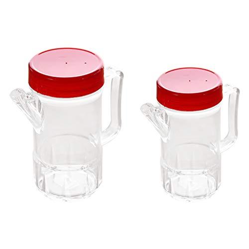 yotijar 2 Piezas De Aceite De Oliva Acrílico Y Botellas De Vinagre Tarros De Especias Cruet 500ml / 360ml Pourer
