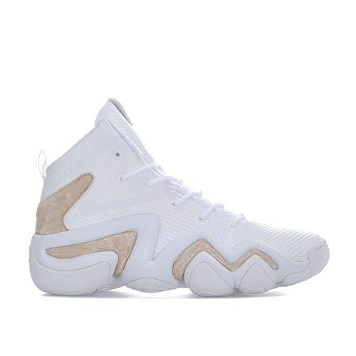 adidas Damen Crazy 8 ADV W Gymnastikschuhe, Elfenbein (FTWR White/FTWR White/Gold Met.), 38 2/3 EU