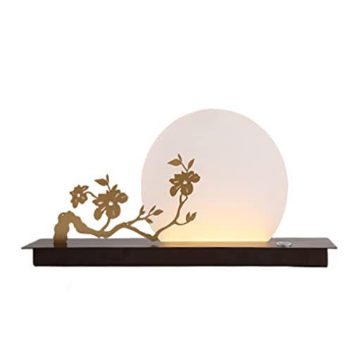 JAKROO Lámpara de Mesa Zen China, decoración Creativa e Individual de Estilo Chino, lámpara Decorativa Retro Simple, Adecuada para Salas de Estar, dormitorios, Lugares de Ocio y Entretenimiento