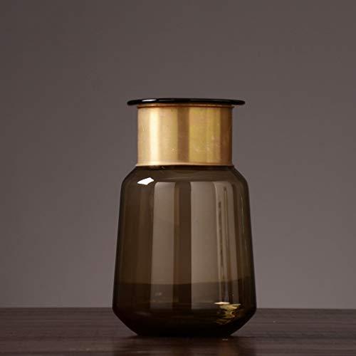 PLL vaas Nordic stijl bruine glazen vaas creatieve voorwerpen woonkamer bloemendecoratie