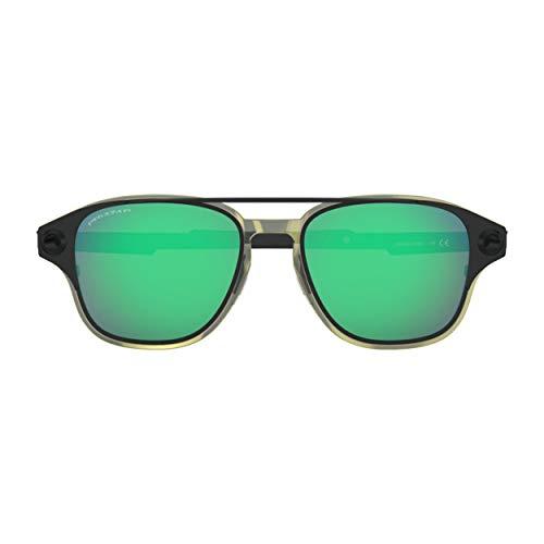 Oakley OO6042-08 Prizm Jade polarizadas Gafas de sol cuadradas de color negro mate