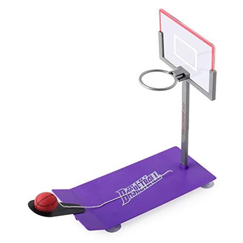 HSKB - Gioco da tavolo da basket, per la famiglia, mini tavolo da tavolo, gioco compatto anche per i viaggi, Lilla (Viola) - JJ-123