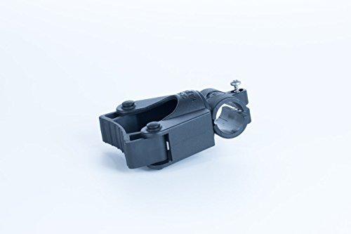 activera Gehstockhalter für Rollator und Rollstuhl Befestigung an 19mm Rohren, für Gehstöcke mit D= 15-20 mm