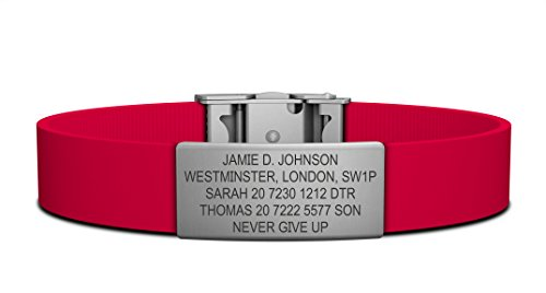 Road ID Bracelet - Official ID Wristband - Silicone Clasp Identification Bracelet and Sport ID for Athletes