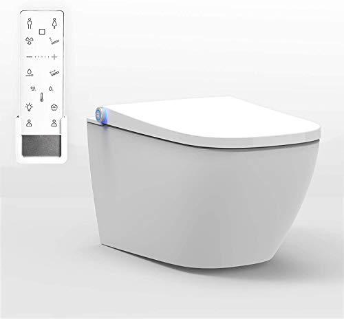 STEIN DUSCH-WC PRO+ 1104 in Weiß - Spülrandloses Dusch-WC eckig - Komplettan
