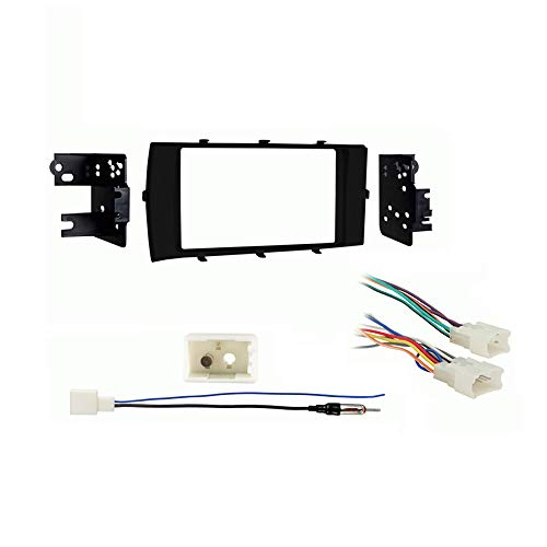Compatible with Toyota Prius C 2012 2013 2014 2015 2016 2017 Double DIN Stereo Harness Radio Install Dash Kit