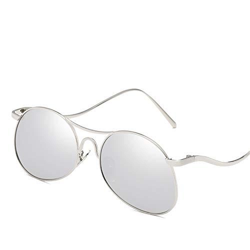 DURIAN MANGO Mode Sonnenbrillen universal Persönlichkeit Metallrahmen Sonnenbrille für Männer und Frauen,Silver