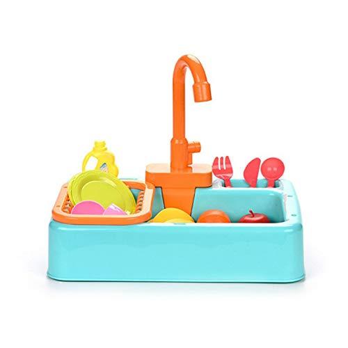 Sensitiveliu Juguete para niños, Juguete de simulación para lavavajillas, Cocina, Juguete para lavavajillas, Salida de Agua eléctrica, Juguete para lavavajillas, Juguetes de educación temprana