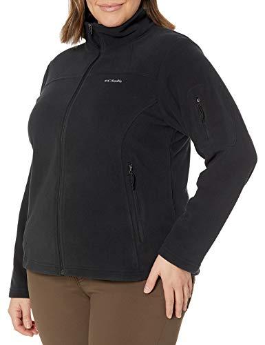 Columbia Damen Fast Trek Ii Plus Size Full Zip Fleece Jacket Fleecejacke, schwarz, 1X