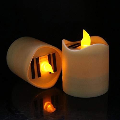 GKJRKGVF zonnelampje, nachtlampje, stroomvoorziening knipperlicht, geel, kunststof, tafel, leuke party-nachtlampje, led-kaarslicht, vlamloos, geel