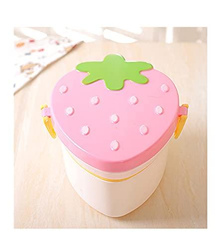 Caja de Almuerzo de Forma de Fresa de 2 Capas, contenedor de Almacenamiento de Alimentos Anti Fugas Bento Sushi Caja para niños Fruta para niños Picnic (Color : B)