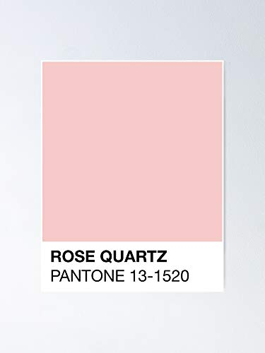 AZSTEEL Rose Quartz Pantone Poster | No Frame Board for Office Decor, Best Gift Family and Your Friends 11.7 * 16.5 Inch