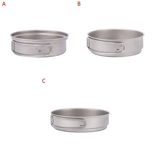 Multifunctionele Camping Cookware Portable Titanium Pan Folding Outdoor Camping Cookware eenvoudig opbergen Cooker Pan (Color : C)