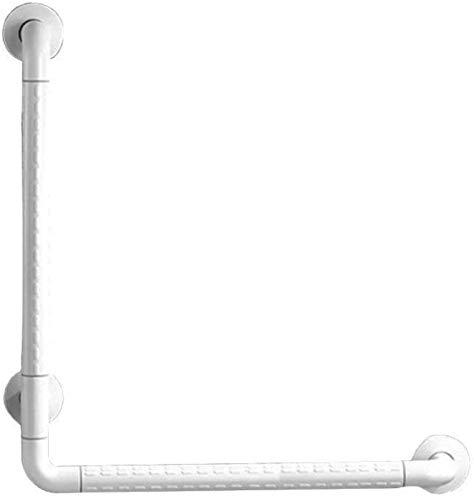 GAOLILI Barras de sujeción En Forma de L de baño Pasamanos Antideslizante sin barreras Antideslizante Barra de sujeción Seguridad baño Anti-estático (Color : White, Size : 300 * 300MM)