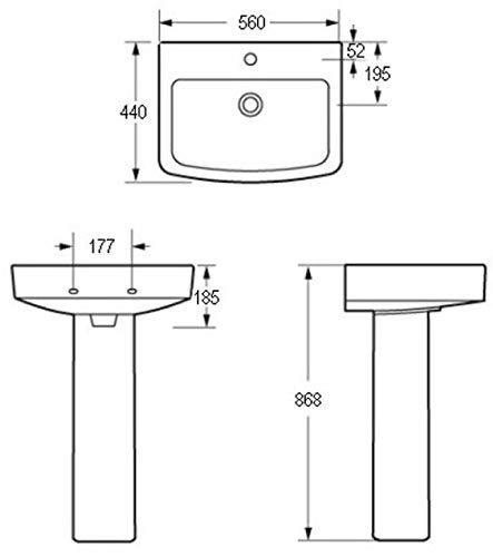Affine Bathroom Suite Toilet Basin Sink Full Pedestal 1600 mm Single Ended Bath Modern