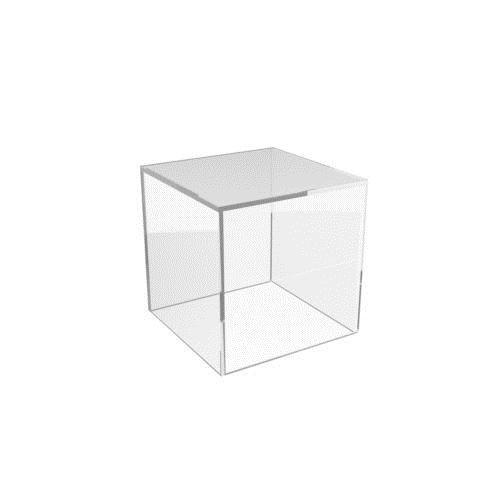 KIICN Cubo Metacrilato Caja Plexiglás Plaza Un Bandeja Protección Tienda Holder