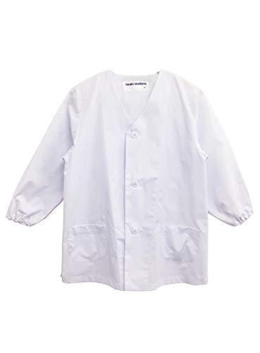 イワキユニフォーム 給食白衣 前ボタンA型 (LL~3L) 601-0-90-2 0(白) LL-150