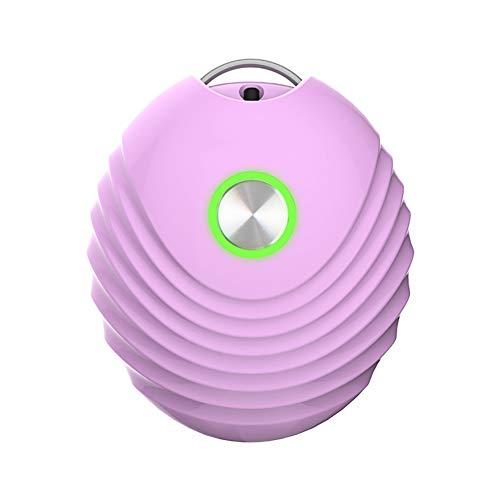 HXML Collar De Purificador De Aire Portátil Mini Ambientador Ionizador Generador De Iones Negativos De Poco Ruido para La Familia,Rosado