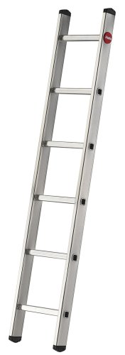 Hailo ProfiStep-Uno - Escalera industrial 1 tramo de aluminio (6 peldaños)