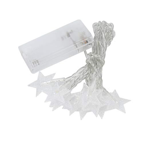 SWEEPID - Lámpara LED de estrella para Navidad, color blanco cálido