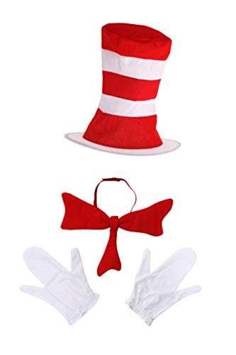 Dr. Seuss Cat in The Hat Costume Accessory Kit for Kids Red