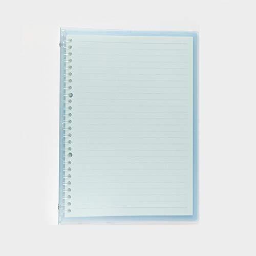 WGG Delgada De Plástico Cuaderno De Hojas Sueltas, Simple Y Cuaderno De Notas Transparente, Suave, Enrollable, Diario De Hojas Sueltas, A5, B5 Dos Estilos-4 Paquetes (Color : Azul, Talla : B5)