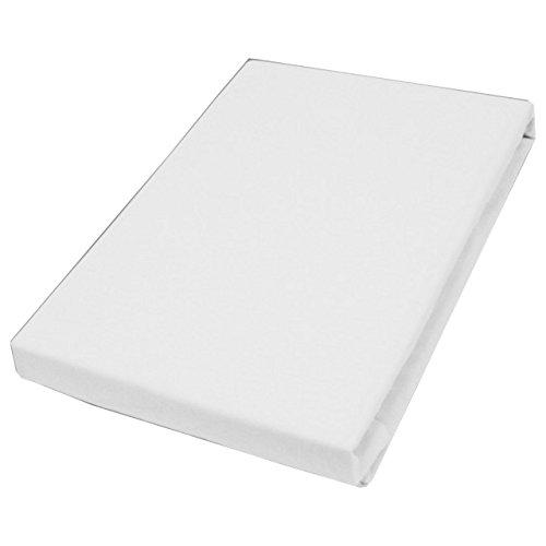 Hahn huistextiel jersey-hoeslaken basic maat 90-100x200 cm kleur wit