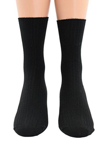 Arztsocken Berufssocken schwarz 100prozent Baumwolle Fünferpack ohne Gummidruck, Farben alle:schwarz, Größe:35/38